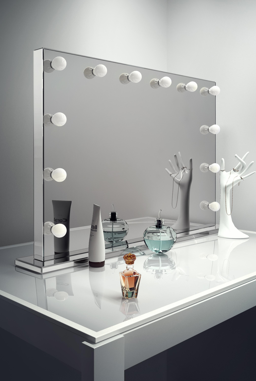 Espejos de Luz LED De Ancho Sin Marco Hollywood Mirror Interruptor ...
