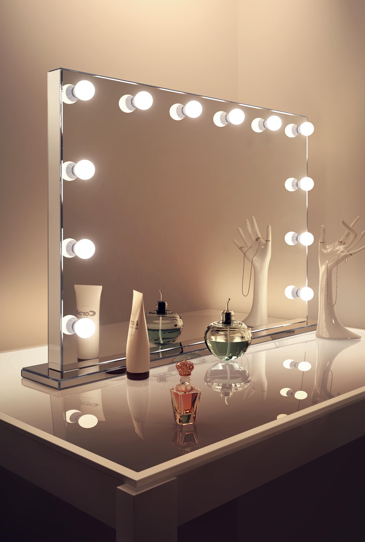 espejos luz audio sin marco ancho led hollywood espejo blanco clido