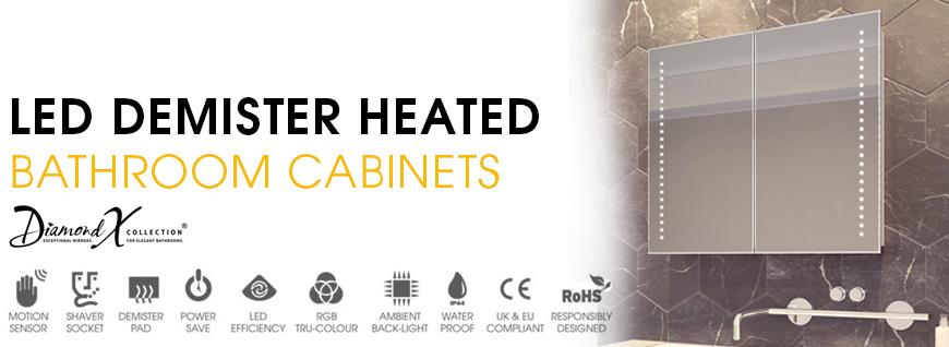 LED Demister Heated Bathroom Cabinets