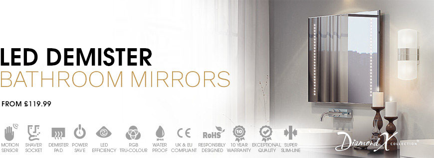 LED Demister Mirrors