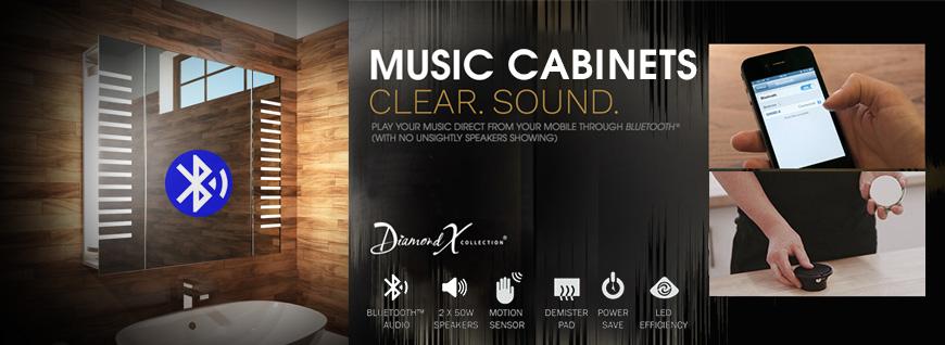 Audio Bluetooth Bathroom Cabinets