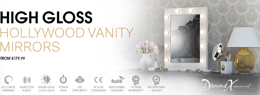 High Gloss Hollywood Vanity Mirrors