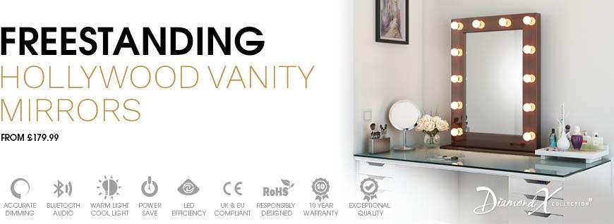 Freestanding Hollywood Vanity Mirrors