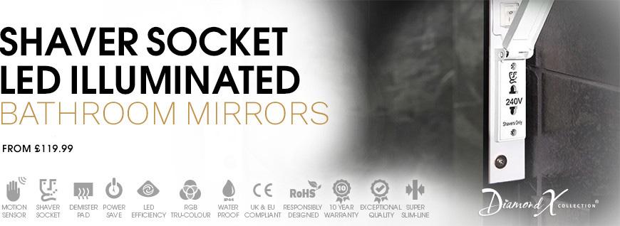 Illuminated LED Shaver Mirrors