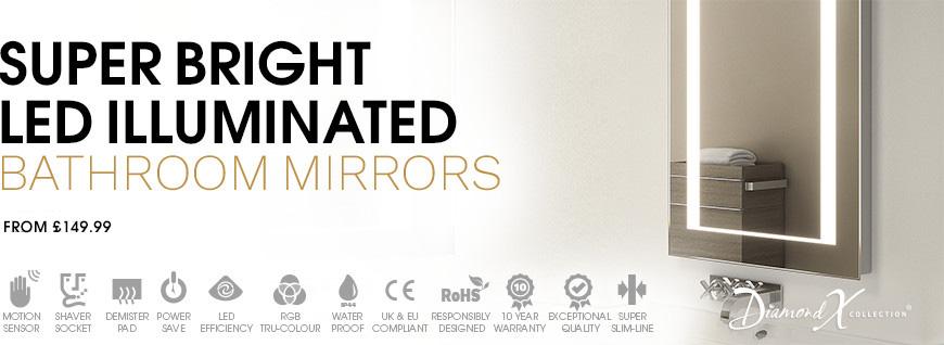 Super Bright Bathroom Mirrors