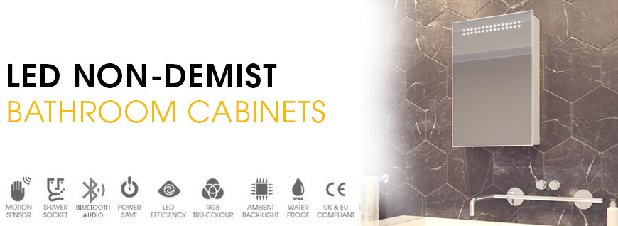 LED Non-Demister Bathroom Cabinets