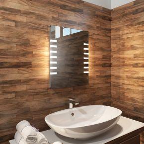 Audio Platinum Tall LED Light Bathroom Mirror