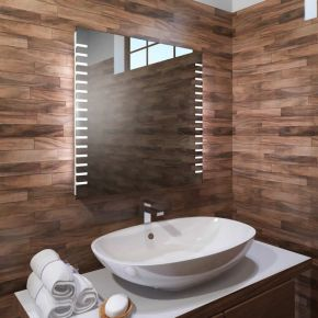 Audio Platinum LED Light Bathroom Mirror