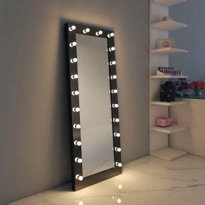 Anastasia Black Glass Mirror (Tall)