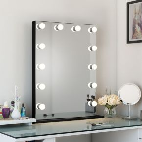 Lucienne Black Edge Mirror (Medium)