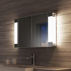 Audio Lucent Two Door LED Bathroom Demister Cabinet
