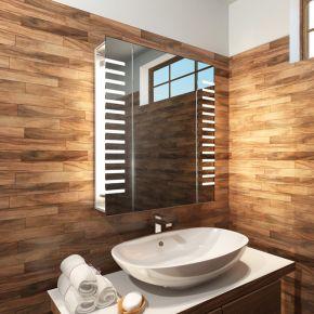 Audio Platinum LED Bathroom Demister Cabinet