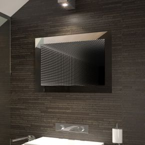 Infinity Wide LED Light Bathroom Mirror
