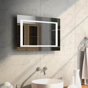 Aurora Wide Super Bright LED Bathroom Mirror 48