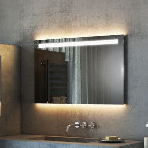 Argent Wide LED Light Bathroom Mirror 503
