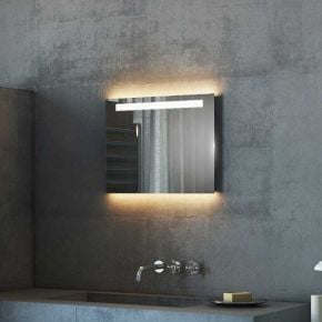 Audio Argent Wide LED Light Bathroom Mirror