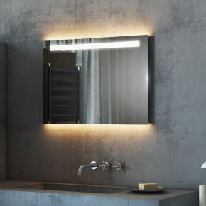 Argent Wide LED Light Bathroom Mirror 502