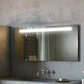 Argent Wide LED Bathroom Mirror 504