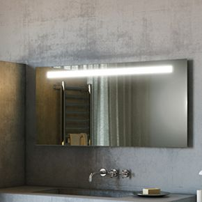 Audio Argent Wide LED Light Bathroom Mirror