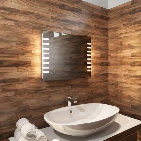 Audio Platinum Wide LED Light Bathroom Mirror
