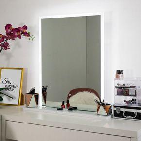 Diamond Edge-lit Table-top Makeup Mirror (medium)