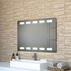 Audio Cube Wide Light Bathroom Mirror