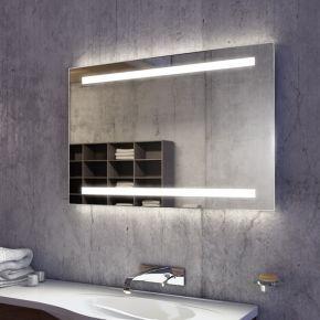 Audio Lumin Wide LED Light Bathroom Mirror