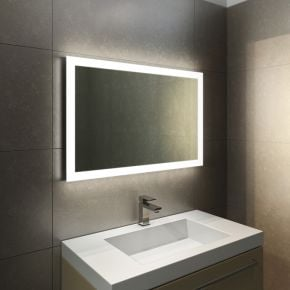 Halo Wide LED Light Bathroom Mirror 841h