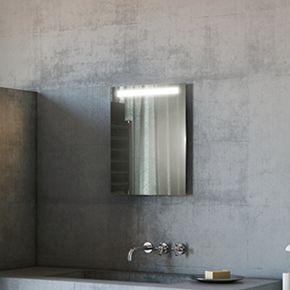 Audio Argent Tall Light Bathroom Mirror