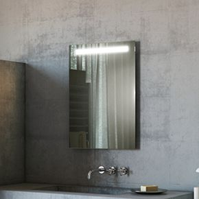 Audio Argent Tall LED Light Bathroom Mirror