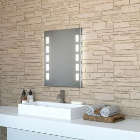 Cube Tall Light Bathroom Mirror