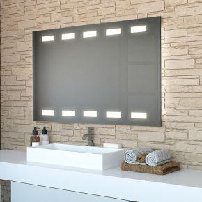 Audio Cube Wide LED Light Bathroom Mirror