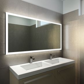 Halo Wide LED Light Bathroom Mirror 1419h