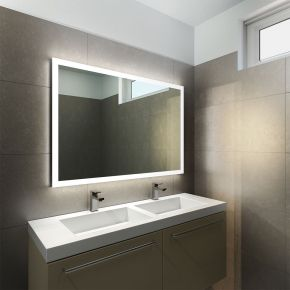 Halo Wide LED Light Bathroom Mirror 842h