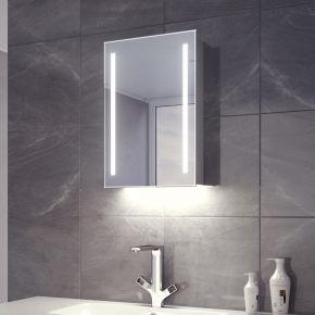 Lumin White Ambient LED Demister Cabinet