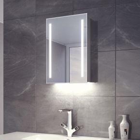 Lumin White Ambient LED Demister Cabinet (Bluetooth Audio)