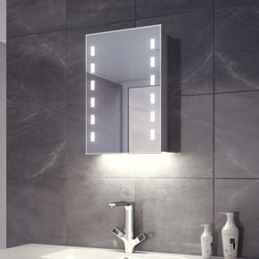 Cube White Ambient LED Demister Cabinet