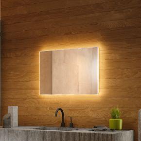 Wide Backlit Bathroom Mirror