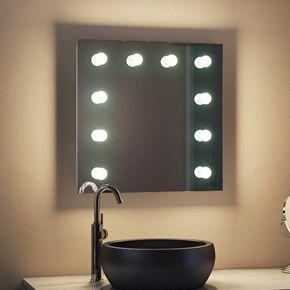 Suzanna Audio Bathroom Hollywood Mirror