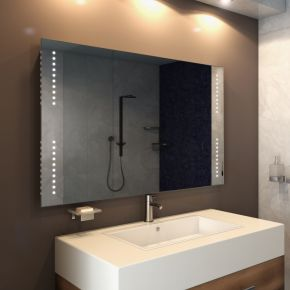 Audio Star Wide LED Light Bathroom Mirror