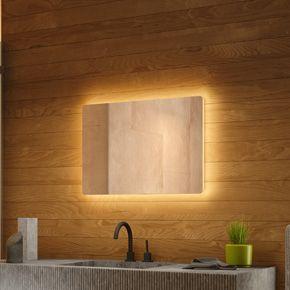 Audio Wide Backlit Bathroom Mirror
