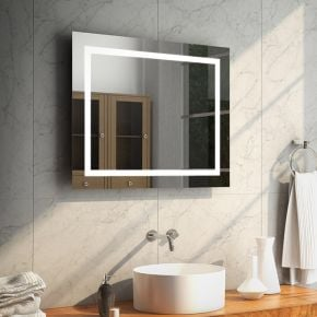Aurora Wide LED Bathroom Mirror