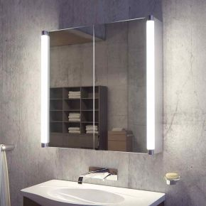 Audio Saber Two Door LED Bathroom Demister Cabinet