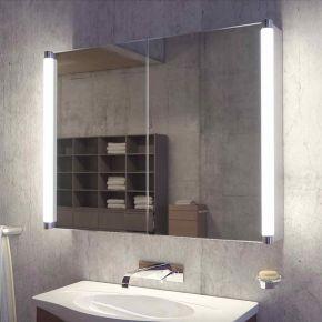 Saber Two Door LED Bathroom Demister Cabinet