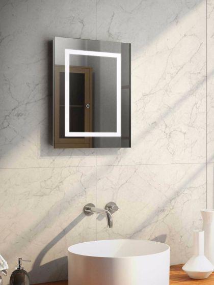 Audio Aurora Tall LED Light Bathroom Mirror