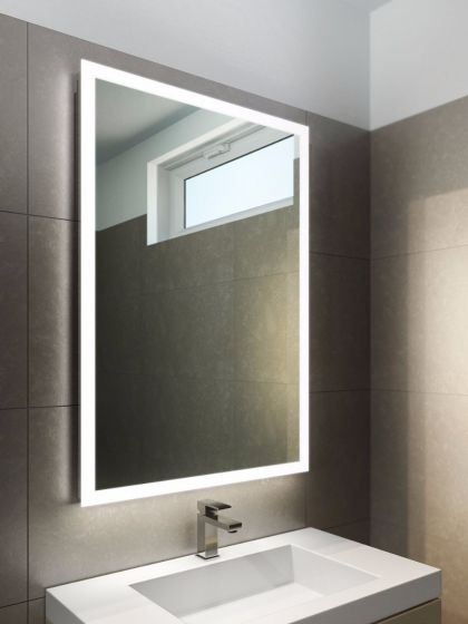 Halo Wide LED Light Bathroom Mirror 842v