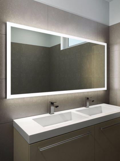 Halo Wide LED Light Bathroom Mirror 1419h