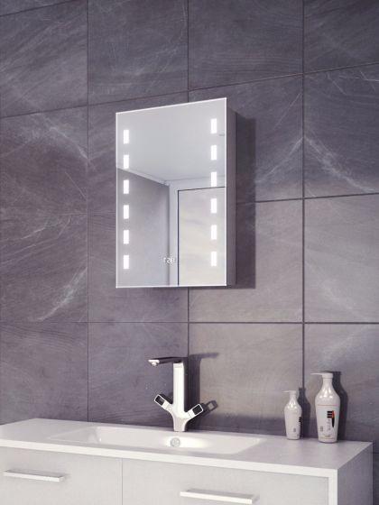 Cube LED Demister Clock Cabinet