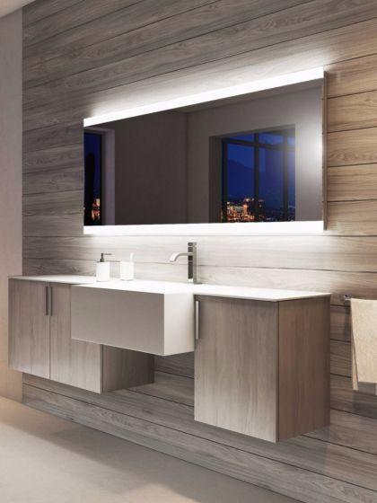 Lucent Wide LED Light Bathroom Mirror