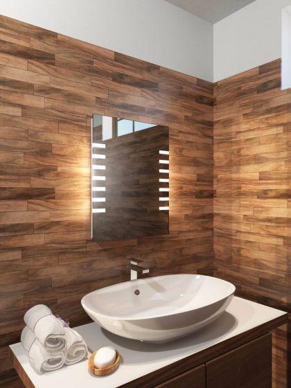 Platinum Tall LED Light Bathroom Mirror